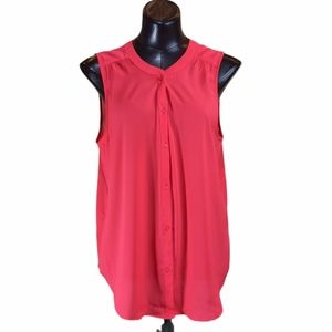 American Eagle Outfitters Sleeveless ButtonUp Top